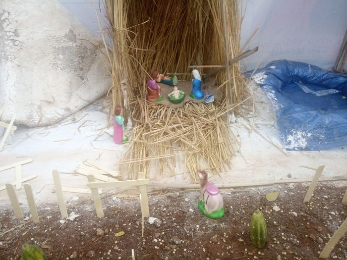 Animal Themes Beauty In Nature Bird Nest Christmas Collection Crib Day Hay Haystack Merry Christmas Merry Christmas Eve! Merry Christmas! Nativity Church Nativity Figurine Nativity Scene Nature No People Outdoors Traveling Home For The Holidays Tree
