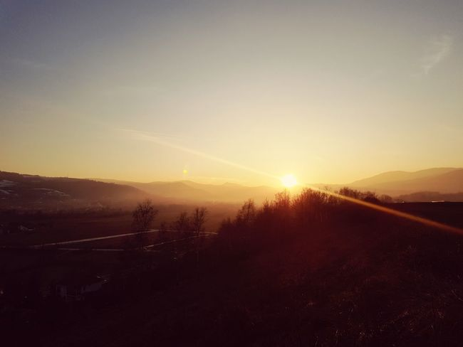 sunset Walley Nature Sunset No People Beauty In Nature Scenics Morning Landscape Outdoors Sky Sun Mountain Cold Temperature