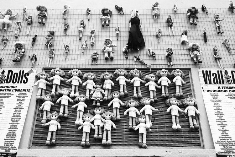 Wall of dolls NEM Black&white NEM Street Wall Of Dolls