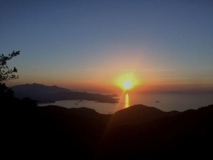 Sun Sky Landscape Sea Sunset Portoferraio Elba Island  Good Vibes