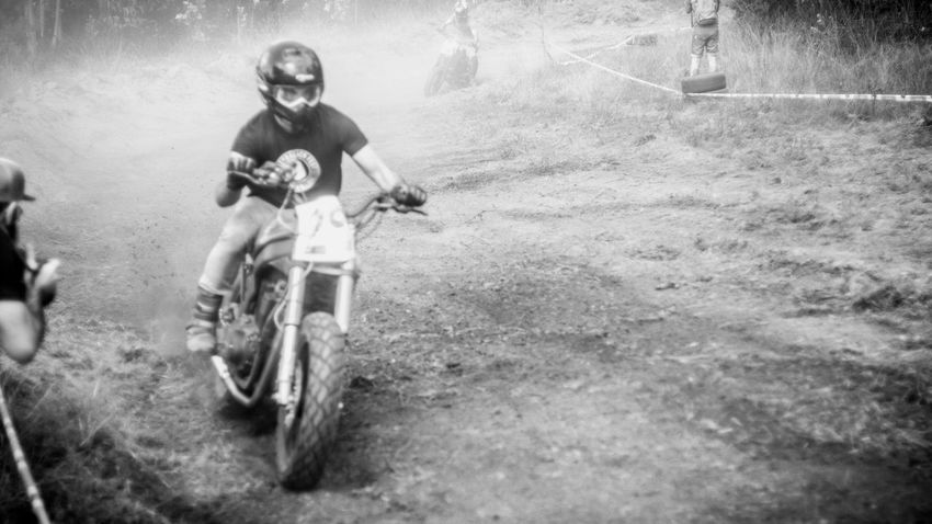 Bicycle Boys Casual Clothing Childhood Day Dusty Track Elementary Age Front View Full Length Land Vehicle Leisure Activity Lifestyles Mode Of Transport Motorcycle Motorcycles Nasmgraphia Outdoors Person Riding Transportation Monochrome Photography