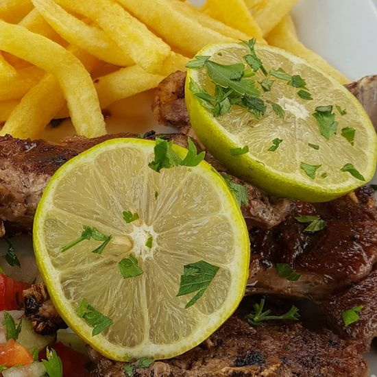 Food Food Photography Foodie Lemon Lemon Slices Lime Lime Slices Lamb Cutlets Meat Lamb Fries Chips Frites