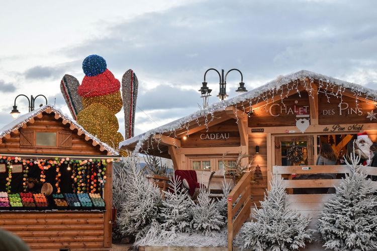 Chalet de Noël. Barcares Chalet Christmas France Le Barcares Noël Outdoors Snow South Of France Winter