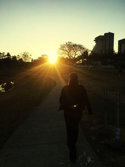 Towards the sunrise , beatiful new day... Day