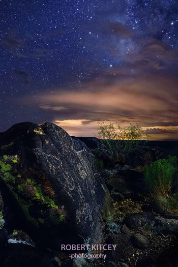 Petroglyphs and Lichen - New Mexico, USA Nightnutters Canon Usa Long Exposure Night Photography Stars Cloud Porn Milky Way Astrophotography Astronomy Long Exposure Night Photography Focus Stacking Night Tranquil Scene Outdoors No People Astronomy Galaxy The Great Outdoors - 2018 EyeEm Awards The Creative - 2018 EyeEm Awards