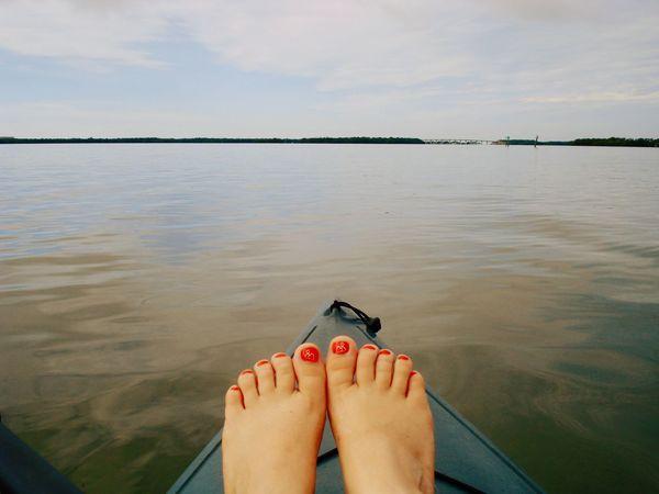 Kayak Kayaker Kayaking Feet Toes Relaxation