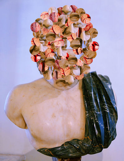 War Head Collage Collage Art Abstract Abstract Art Anxiety  Human Representation Male Form Mental Health  Photoshop Statue
