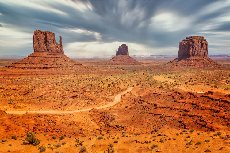 Iconic monuments of the monument valley