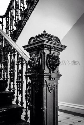 "©Ann Norsworthy ""t h e l i o n h e l d h i s t o n g u e"" IoLIGHTstudios  EyeEm BlackandWhite Troy Music Hall Architectural Detail"
