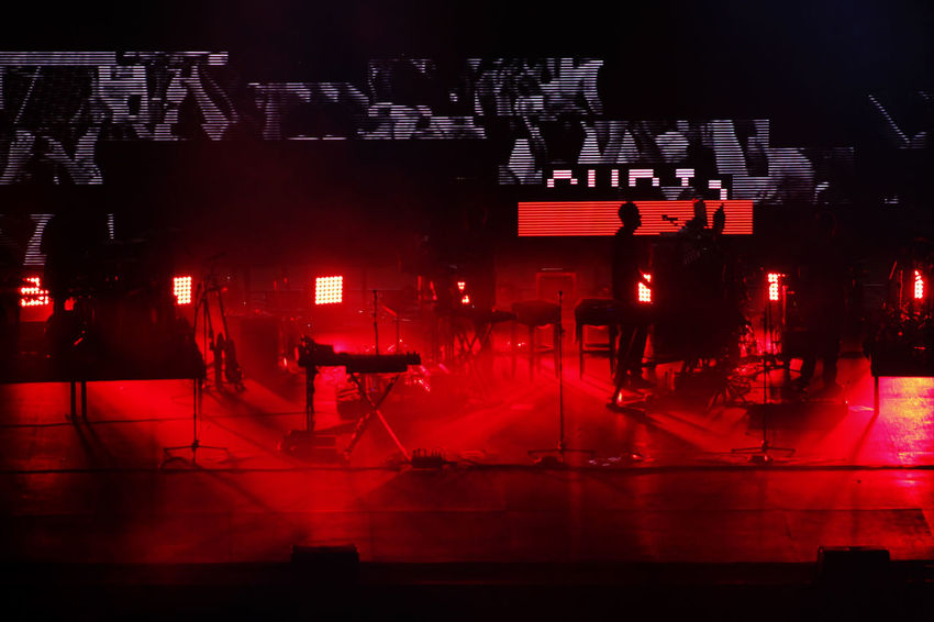 Red Music Arts Culture And Entertainment Nightlife Nightclub Indoors  No People Night Popular Music Concert Performance Photo Napoli Italia Live Music Live Concert Italy Naples Massive Attack Music Elettronica Rock Music Stage - Performance Space Performing Arts Event Smoke - Physical Structure