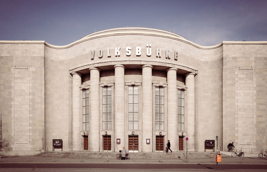 Architectural Column Architecture Berlin Mitte Berlin Photography Berlin Summer Building Exterior Built Structure City Clear Sky Day Façade History Outdoors Sky Street Photography Streetphotography Summertime Volksbühne