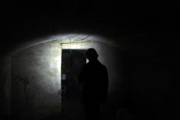 Always go deeper. // Geneva, Switzerland Cave Darkness Depths Flashlight One Person Urbex Wall