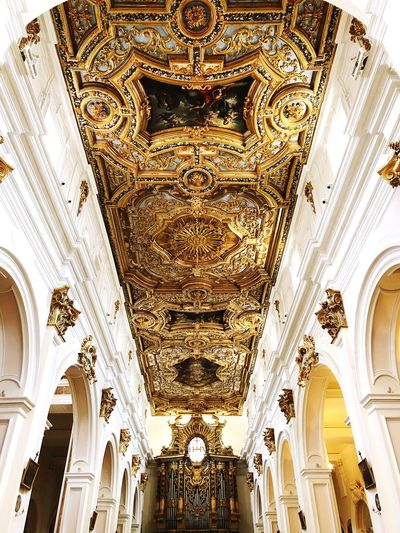 Simply Baroque EyeEm Selects Architecture Ceiling Indoors  Pattern Built Structure Religion Ornate Spirituality Travel Destinations Art And Craft Building History The Past First Eyeem Photo