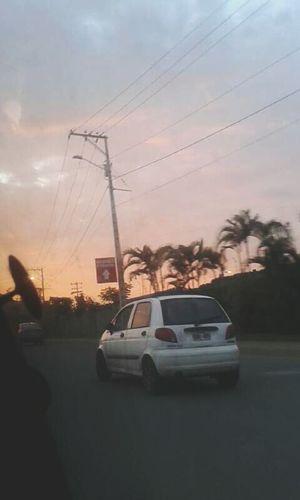 Drive Car Sunset