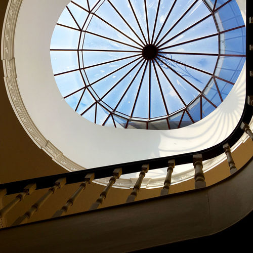 Stairs Architectural Design Architecture Built Structure Ceiling Close-up Day Dome Glass - Material Glass Dome Glass Windows Indoors  Low Angle View No People Sky Skylight Staircase Stairwell