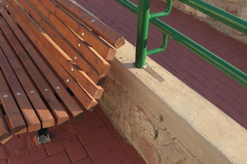 Street Street Photography Publicbench Bench Shadow High Angle View Day No People Sunlight Nature Wood - Material Outdoors Green Color Pattern Empty Absence Footpath Seat In A Row