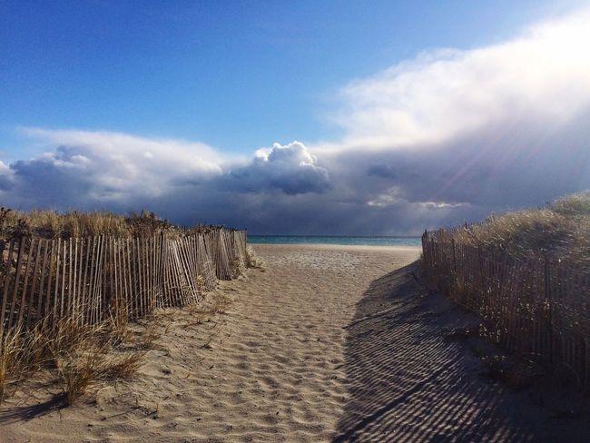 Beach Walk Tranquility No People Empty Beach Beach Sky Rhode Island New England Coastal Town