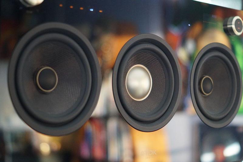 Close-up of speakers