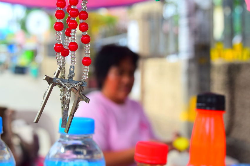 Christianity Church Faith Phillipines Rosary Day Devotee Filipino One Person Outdoors People Real People St Joseph Streetphotography