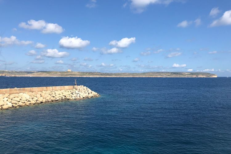 Nofilter Malta Tranquility Cloud - Sky Sky Sea Tranquil Scene Beauty In Nature Scenics Water Beach