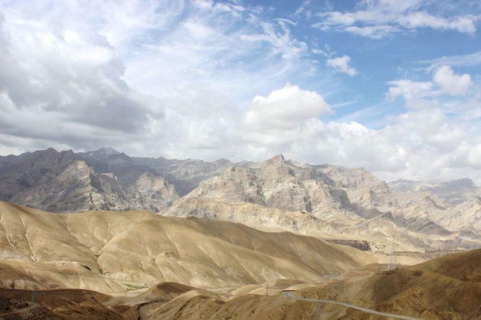 Mountains in Ladakh region of Jammu and Kashmir. EyeEmNewHere Kashmir Getty Images Photooftheday Landscape Kargil Leh Sand Dune Sand Sky