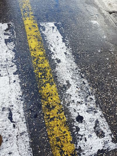 wet road Road Yellow Yellow Full Frame Day No People Textured  Pattern Outdoors Close-up