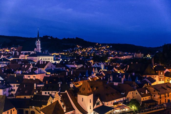 The night of CK town Architecture Building Exterior Crowded Sky My Traveling Photography Night Nightphotography Czech Republic CK Town Town Residential Building Illuminated Cityscape Light Night Lights Peace Tranquility Travel Photography No People The City Light
