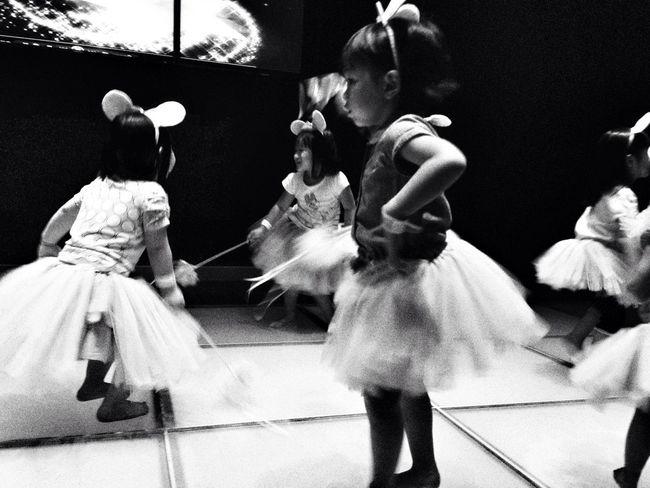 She loves to dance. Kids Black And White The Dancer Havingfun