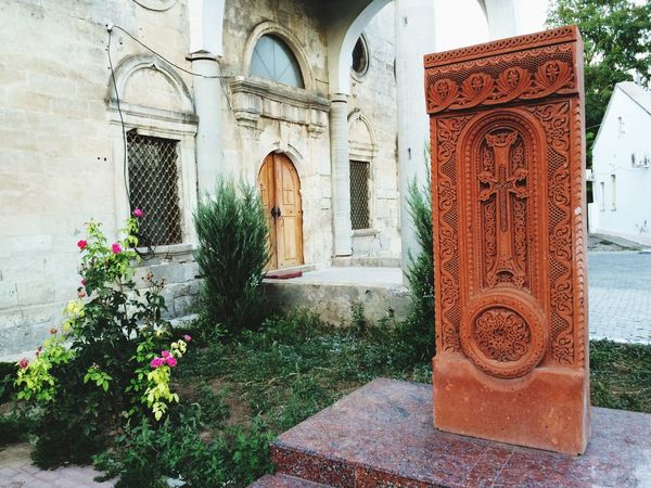 Armenian church Architecture Built Structure Building Exterior Flower History Plant Column Outdoors Memories Arch Day Architectural Column Growth Place Of Worship Façade Stone - Material No People