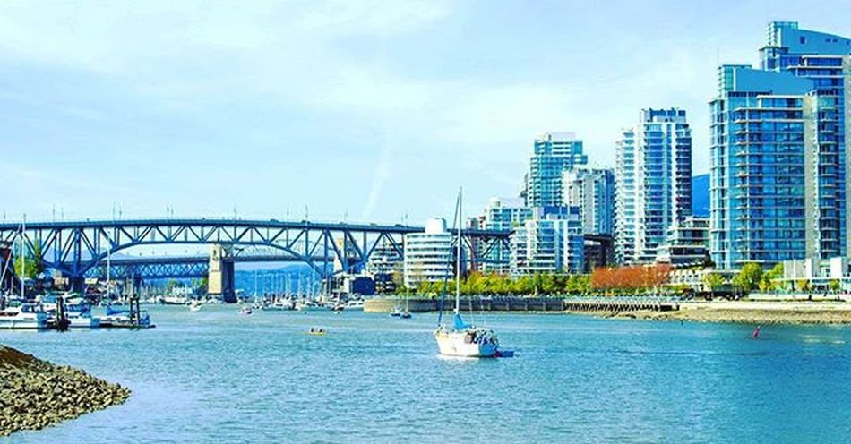 """I am not afraid of storms, for I am learning to sail my ship"" - Aeschylus Vancouver Vancity Vancitybuzz Vancityhype Cambiebridge Landscape Explorebc Bridge Skyline VancouverCanada"