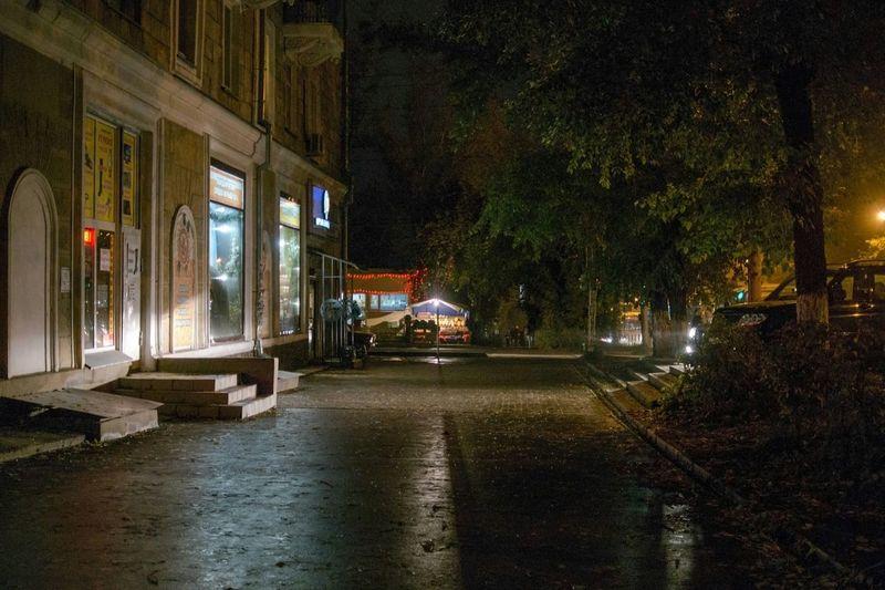 Ночные улочки Novosibirsk Street Autumn