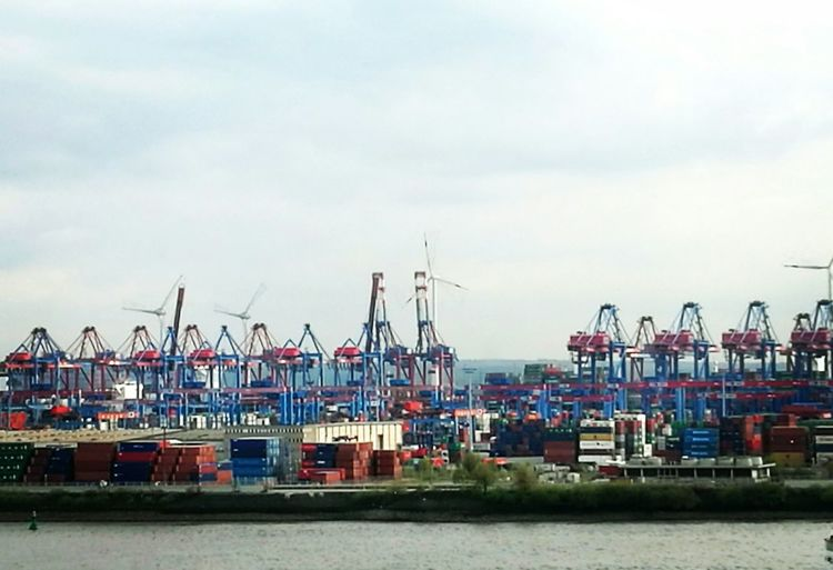 Harbor Water Shipping  Commercial Dock Mode Of Transport Hamburg Harbour No People Freight Transportation Sea Hamburg Elbe