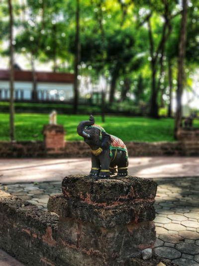 Stone elhant Garden Elephant Sculpture Exterior