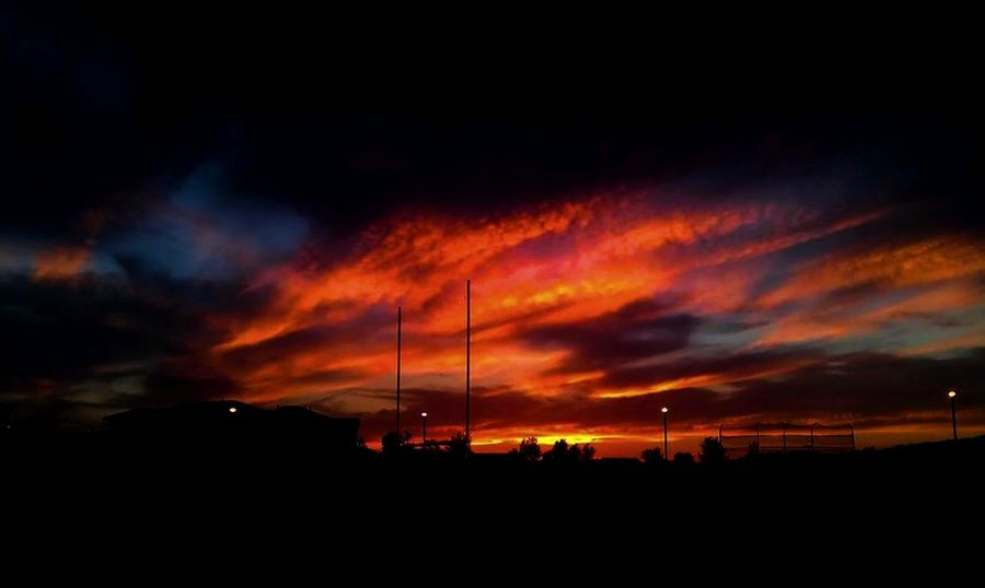 Cloud - Sky Color Photography Dusk Dusk Sky End Of The Day Fire Sky Football Field Illuminated Nature No People Orange Glow Orange Sky Outdoors Scenics Sky Sky And Clouds Sky Colors Sky Photography Storm Clouds At Sunset Sunset Taking Photos