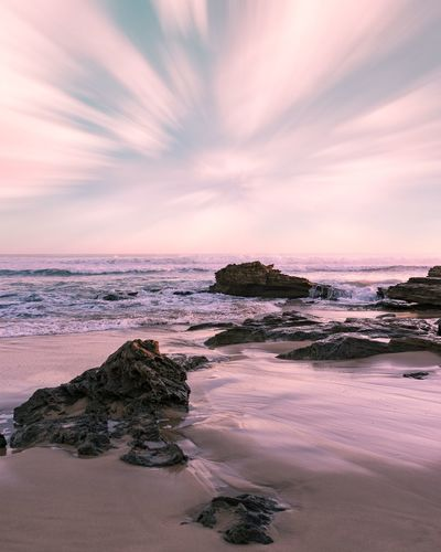 Beachphotography Beach Sea Sand Landscape Tranquility Horizon Over Water Dramatic Sky Tranquil Scene Outdoors Travel Destinations No People Wave Sky Cloud - Sky Nature Vacations Dusk Melbournephotos Melbourne City Modern Australia