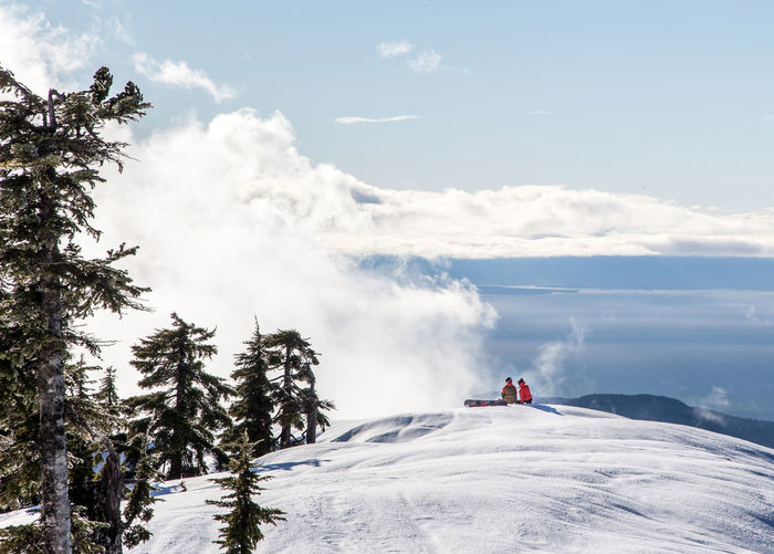 Snow Day on Cypress Mountain Adventure Beauty In Nature Canada Cloud - Sky Cold Temperature Day Landscape Leisure Activity Lifestyles Men Mountain Nature Outdoors People Real People Scenics Ski Holiday Sky Snow Snowboarding Tree Two People Vacations Warm Clothing Winter