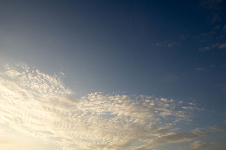 Backgrounds Beauty In Nature Blue Cloud - Sky Cloudscape Day Dramatic Sky Heaven Low Angle View Nature No People Outdoors Scenics Sky Sky Only Space Sunlight Sunset Tranquil Scene Weather