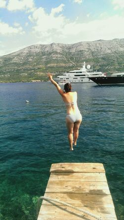 Croatia Korcula Island Traval Summer Fun Water Plunge Theessenceofsummer Love Brave Leap Deep Breath People Of The Oceans Great Outdoors Yatch Sunshine Happy