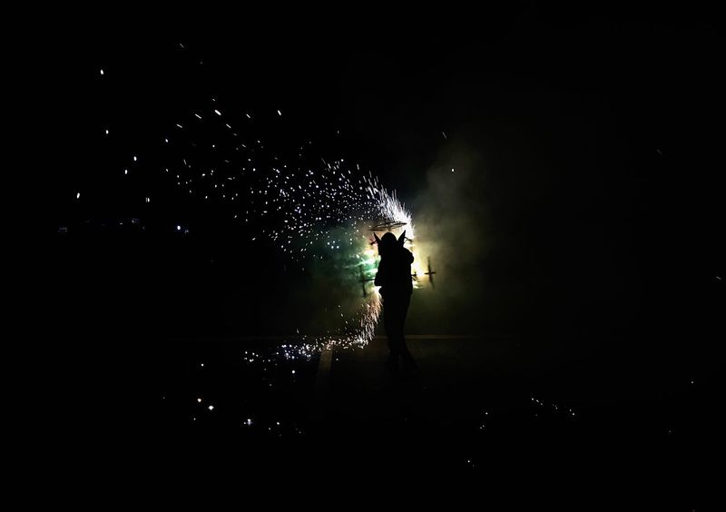 Night Silhouette One Person Real People Dark Arts Culture And Entertainment Visitmexico Torito Fireworks Streetphotography Men Lifestyles Standing Leisure Activity Stage - Performance Space Full Length Spotlight Nightlife One Man Only Outdoors People Adult Silhouette