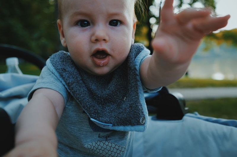 EyeEm Selects Child Childhood Real People Cute Innocence Portrait Baby Looking At Camera Toddler  Focus On Foreground Close-up