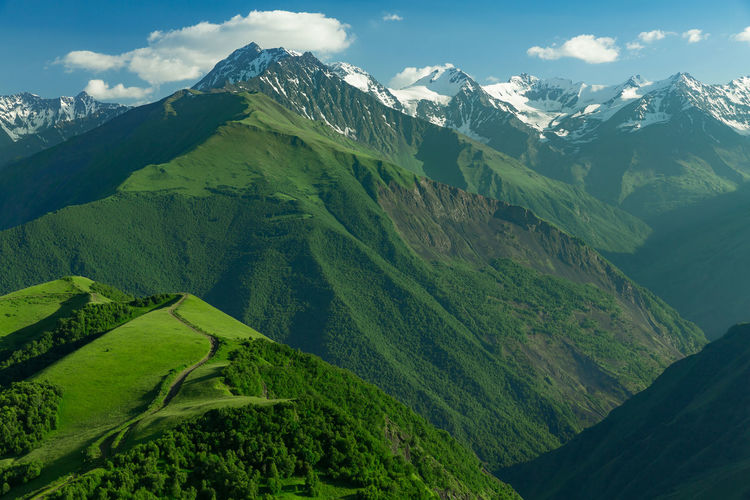 Mountains of chechnya in the caucasus