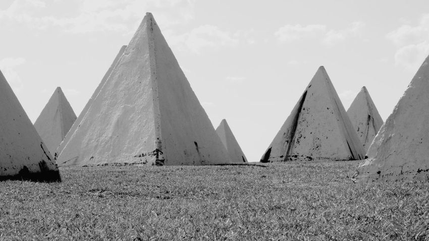 Pyramid History Triangle Shape Cultures Statue Shape Sky Triangle Pyramid Shape