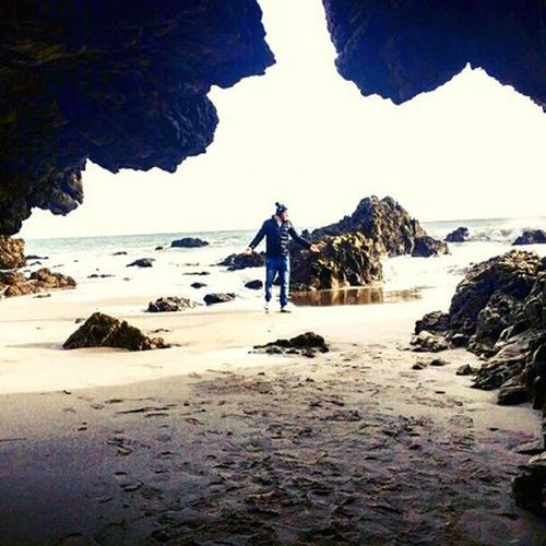 Any problem who cares man just relax Cali California Losangeles Leocarrillobeach Cave Caveshot Peaceful Peace Beachlife Instamood Bestoftheday Bestshots Malibu