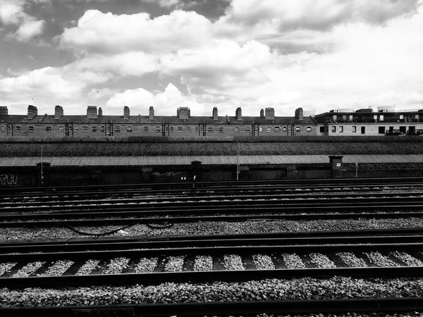 Blackandwhite Horizontal Symmetry Lines Urban Urban Geometry Symmetrical Industrial Monochromatic Train Tracks On The Way Journey The Journey Is The Destination