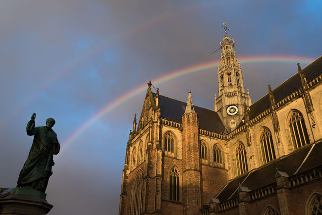 Arch Architecture Archtecture Cathedral Church Double Double Rainbow Double Rainbows Golden Hour Grote Markt Haarlem Overcast Sint Bavokerk Sunset Live For The Story The Great Outdoors - 2017 EyeEm Awards The Architect - 2017 EyeEm Awards Your Ticket To Europe The Week On EyeEm