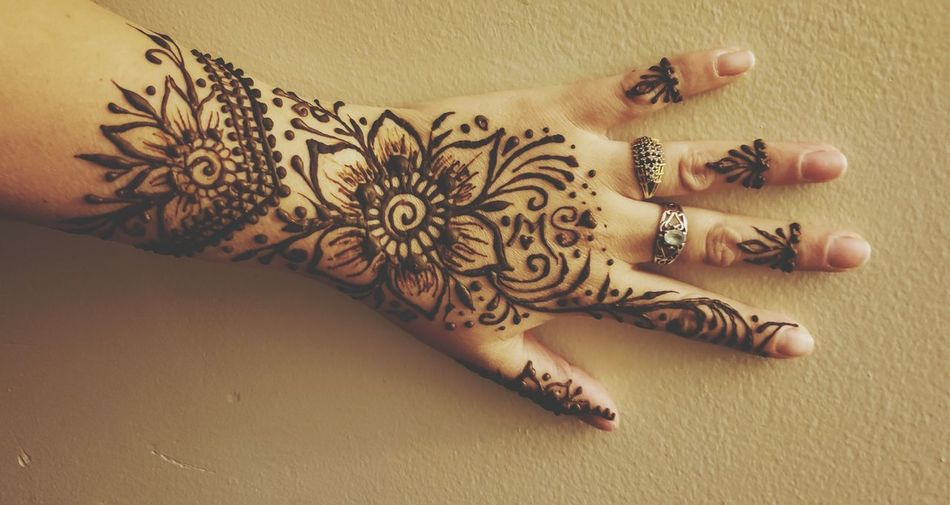 mehndi flowers Celebration Henna Tattoo Art Indian Culture  Traditional Culture Tattooing Body Adornment