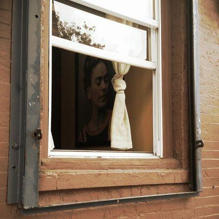 All up in yo windows. Frida Fridakahlo LosPolitos Parkslope Brooklyn Art Neomexicanismo