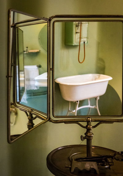 Antique Mirror Bathroom Bathroom Sink Close-up Day Faucet Hygiene Indoors  Mirror Reflection No People Wash Bowl