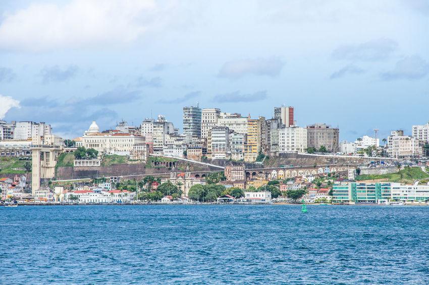 City!! #Bahia #elevadorlacer #salvador Architecture Building Exterior City Cityscape Cloud - Sky Day No People Outdoors Sea Sky Travel Destinations Urban Skyline Water
