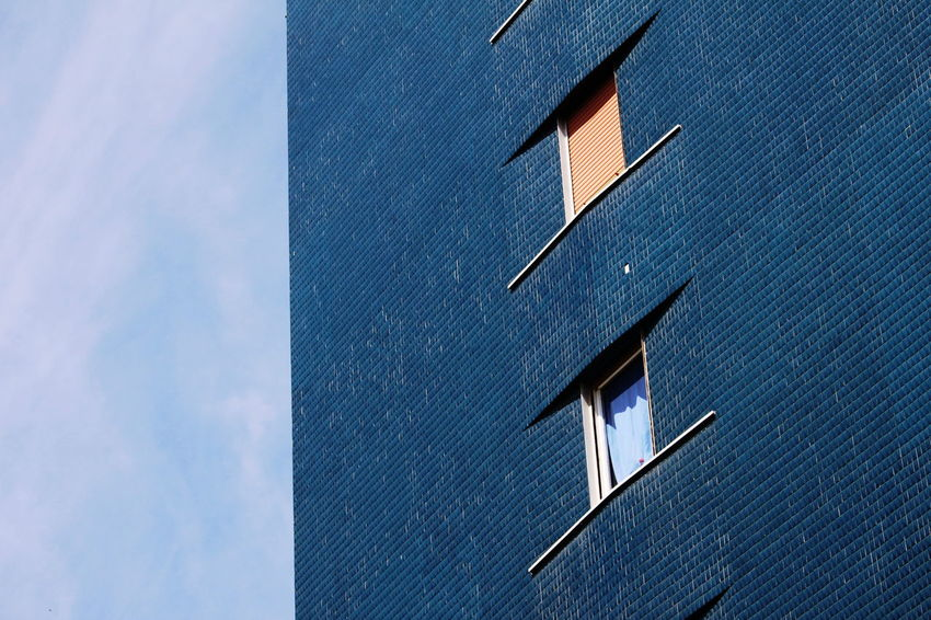 Mai 2017 Milano Blue Building Exterior Close-up Day No People Outdoors Sky Tiles Windows